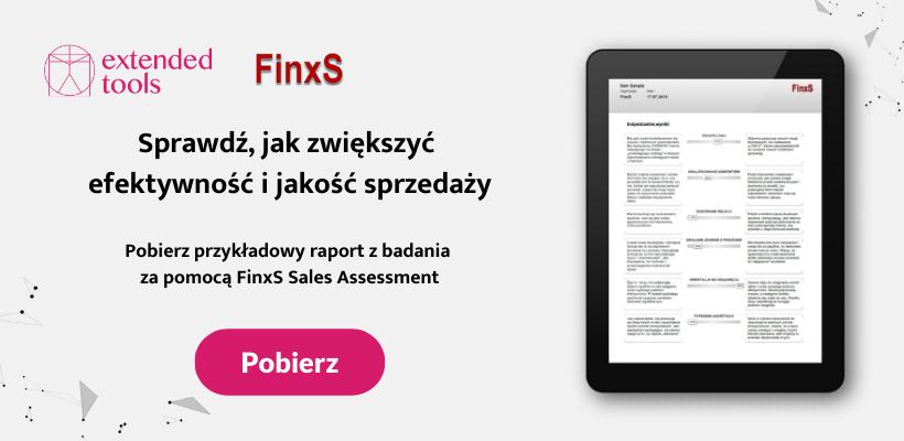 Pobierz przykładowy raport z badania za pomocą FinxS Sales Assessment